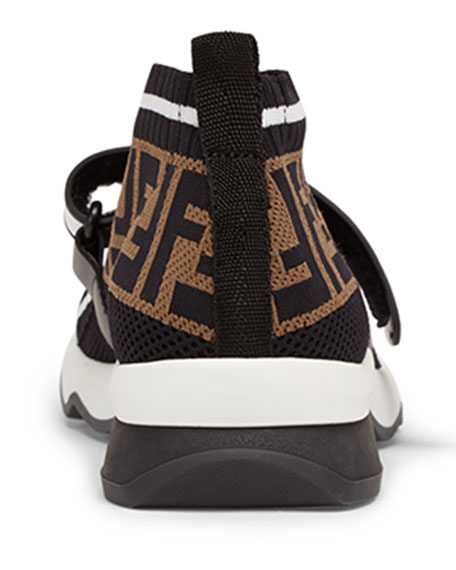 Fendi Rockoko FF Knit Sneakers