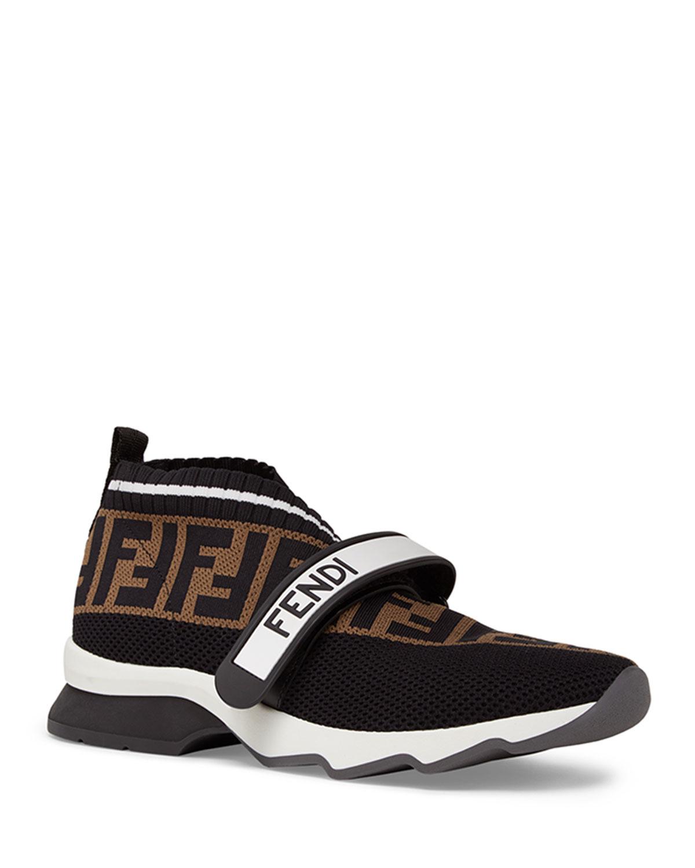 b012e880651 Fendi Rockoko FF Knit Sneakers | Neiman Marcus