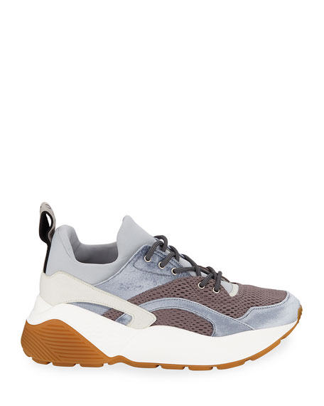 Stella McCartney Eclipse Mixed-Media Trainer Sneaker