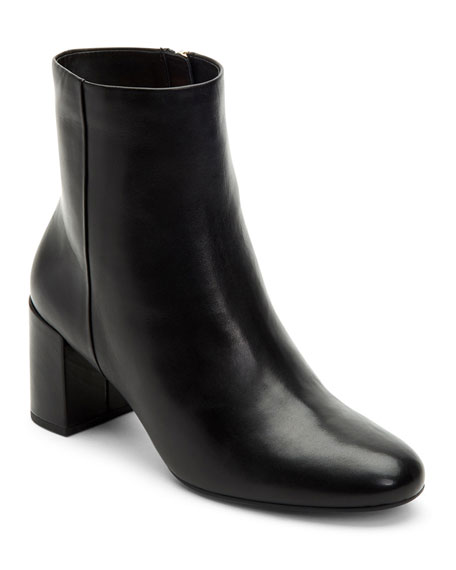 Taryn Rose Cassidy Leather Ankle Booties