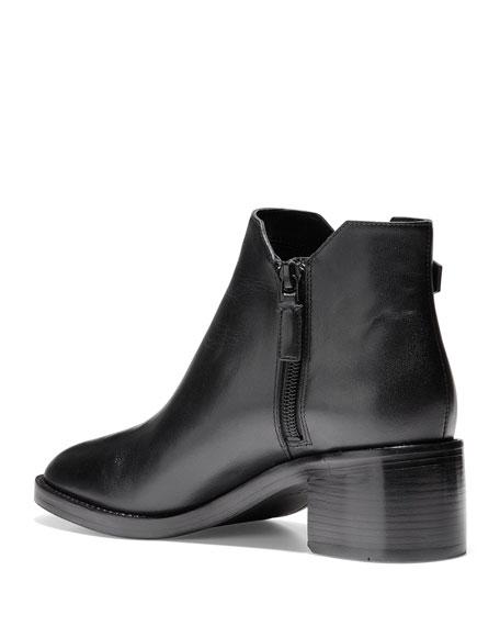 Cole Haan Harrington Grand 360 Low-Heel Leather Buckle Booties