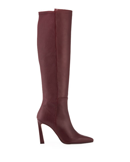 Demi 100mm Leather Knee Boots