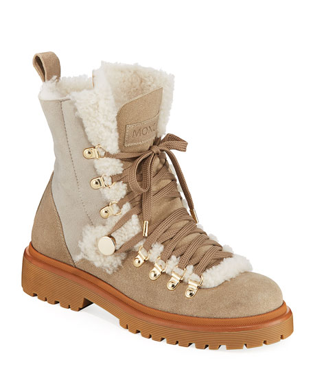 Moncler Berenice Stivale Fur-Lined Hiking Boots