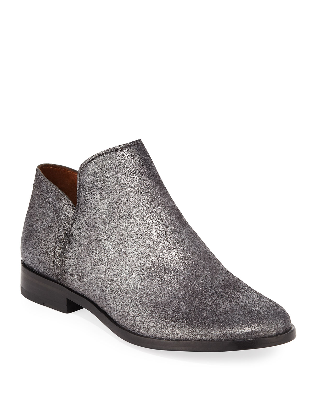 4f3f48cc041 Frye Elyssa Short Metallic Leather Booties