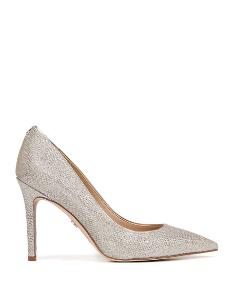 Image 2 of 4: Hazel Glam Mesh Pointed Pumps