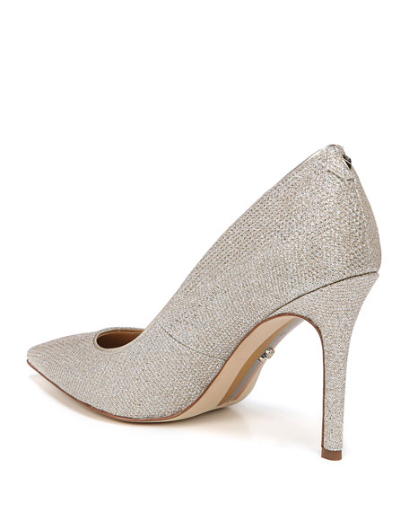 Image 3 of 4: Hazel Glam Mesh Pointed Pumps