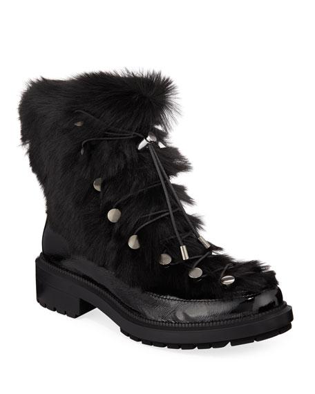 Aquatalia Lorena Fur Combat Boots