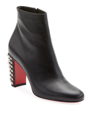 e66254729d1f Christian Louboutin Suzi Folk Leather Red Sole Booties