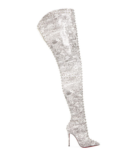 Christian Louboutin Metrolisse Over-The-Knee Red Sole Boots
