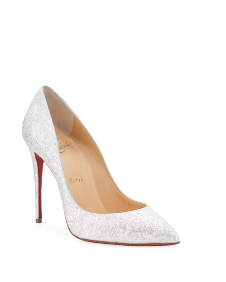 Christian Louboutin Pigalle Follies 100mm Glitter Red Sole Pumps