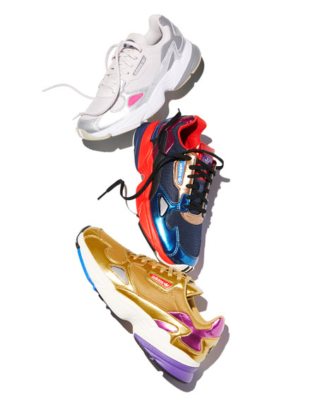 Adidas Falcon Women's Colorblock Metallic Sneakers