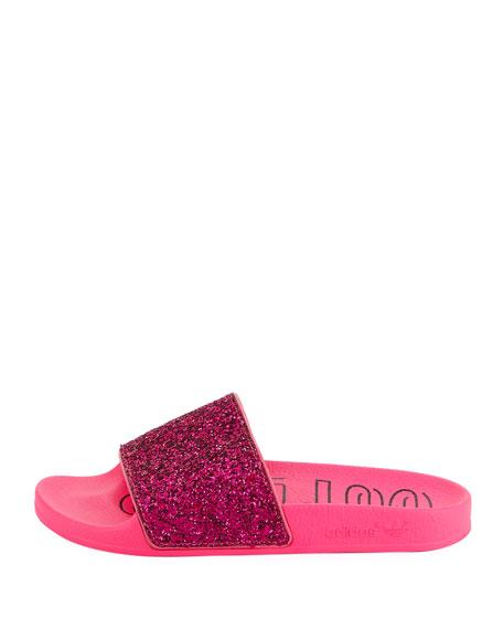 Adidas Adilette Glitter Vinyl Pool Slide Sandals