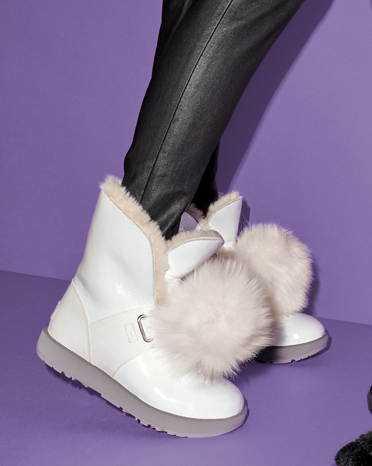 UGG Isley Waterproof Patent Boots with