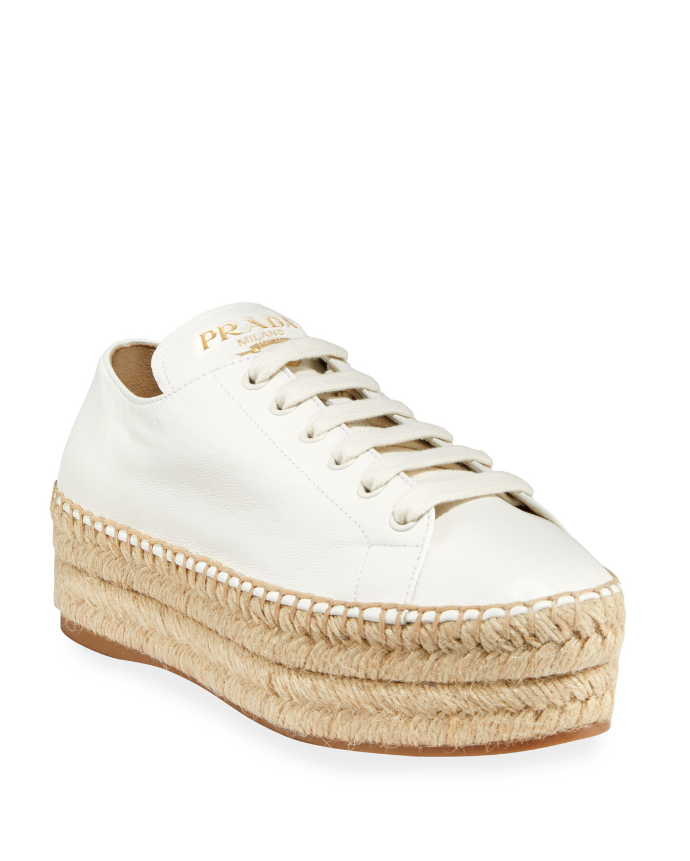 2ada94be54 Leather Platform Sneaker Espadrilles