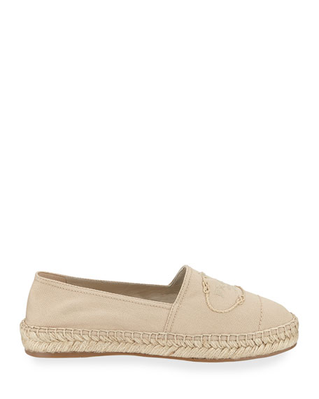 Prada Canvas Slip-On Logo Espadrilles