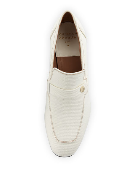 Laurence Dacade Tracy Heeled Canvas Penny Loafers