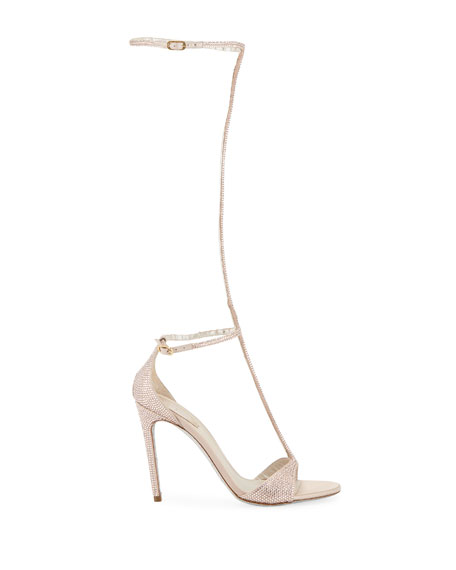 Rene Caovilla To-The-Knee Crystal Sandals