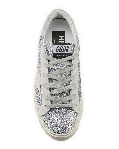 Golden Goose Hi Star Glitter Sneakers