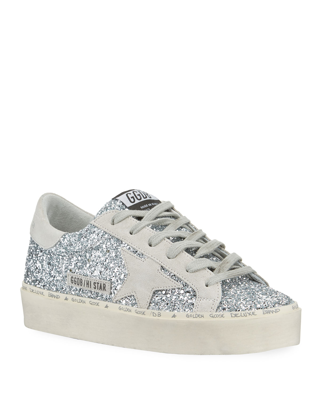 44a167e949bf2 Golden Goose Hi Star Glitter Sneakers | Neiman Marcus