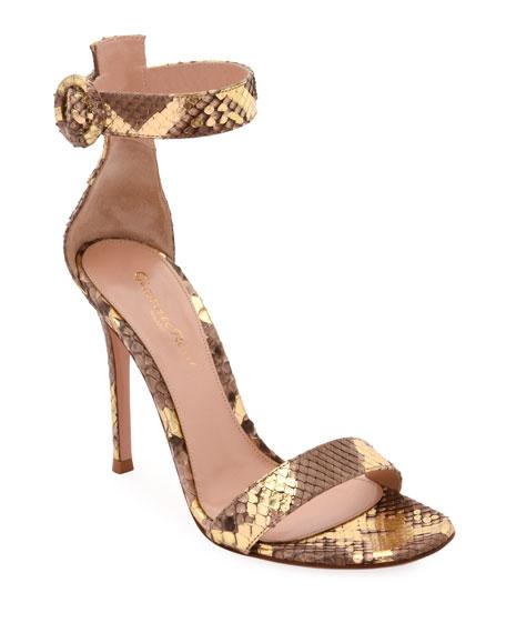 Gianvito Rossi Portofino Python 105mm Sandals