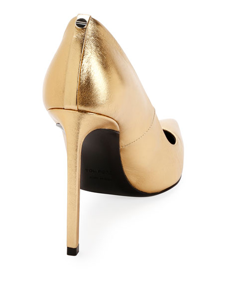TOM FORD Laminated Leather 105mm Pumps