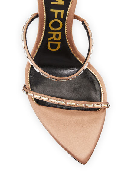TOM FORD Embellished Pointed-Toe Sandals