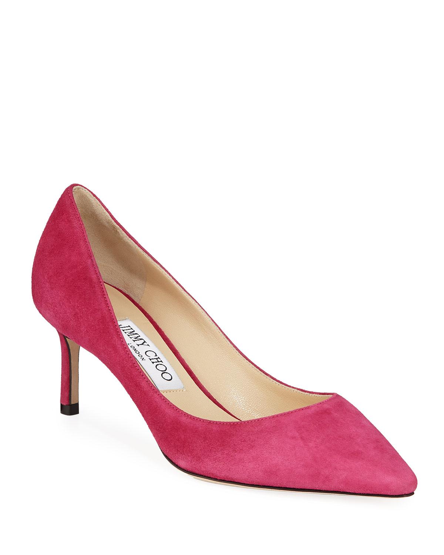 jimmy choo pink suede pumps