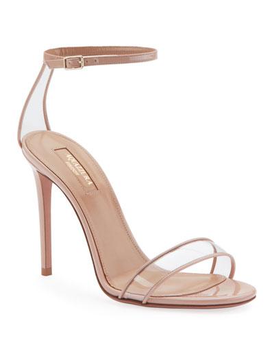 Minimalist High-Heel Patent Sandals