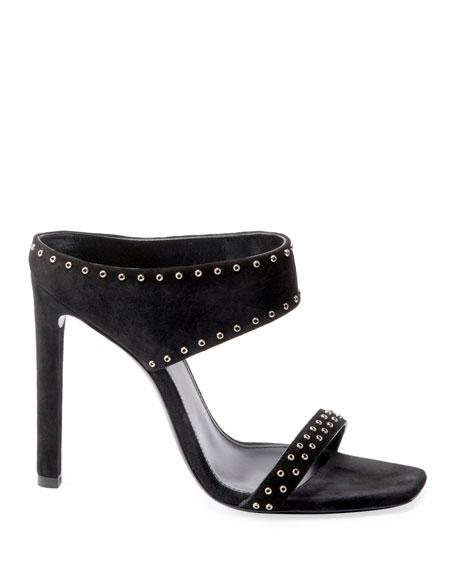 Saint Laurent Mica Suede Slide Sandals