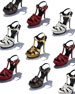 Saint Laurent Tribute Pebbled Platform Sandals