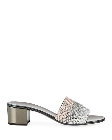 Giuseppe Zanotti Ombré Crystal Slide Sandals