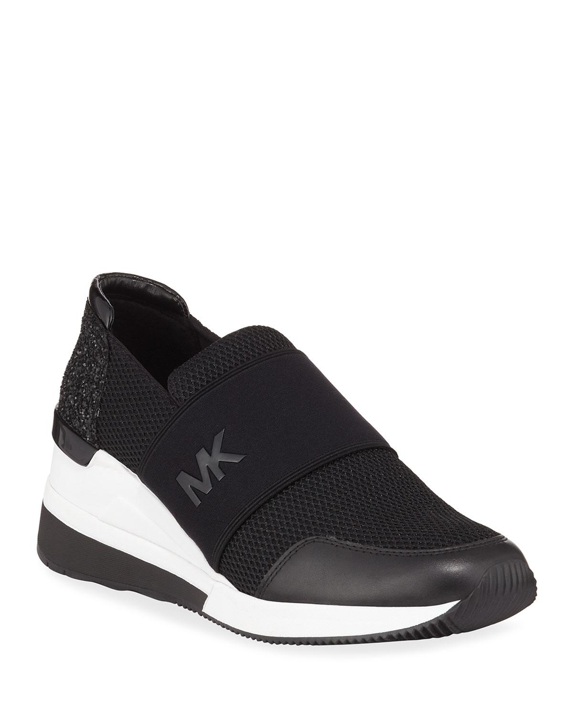 fcee22e07d95 MICHAEL Michael Kors Felix Logo Slip-On Trainer Sneakers | Neiman Marcus