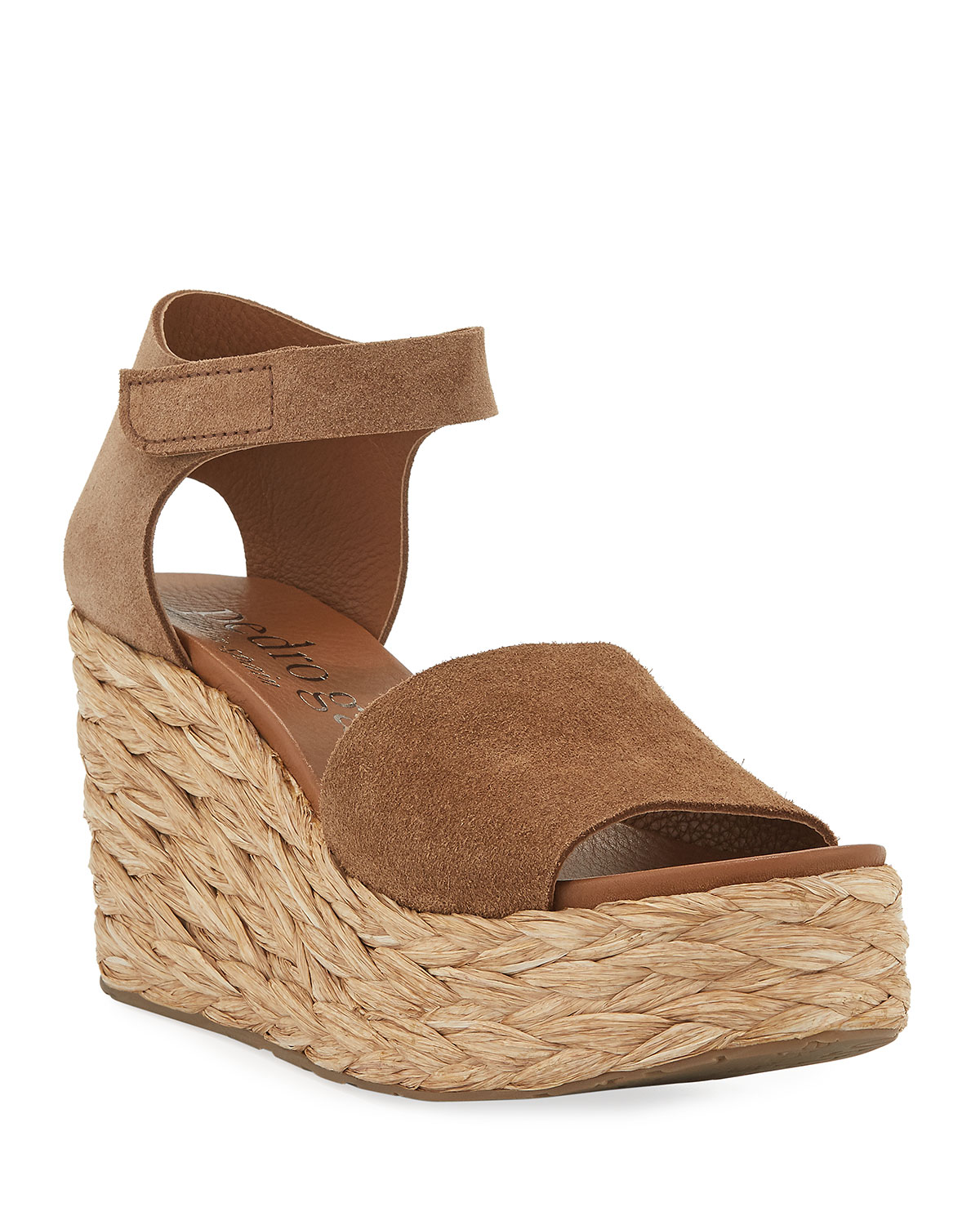 bb787a54a18 Pedro Garcia Dory Suede Low-Wedge Espadrille Sandals