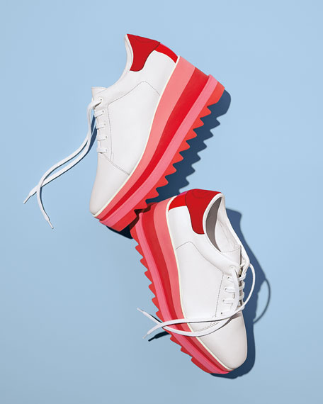 Stella McCartney Sneakelyse Lace-Up Bright Sneakers