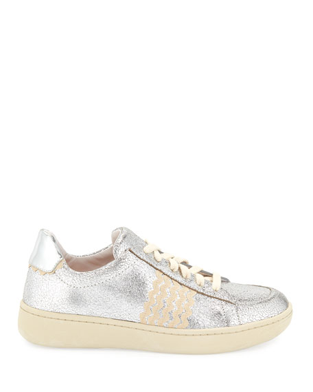 Loeffler Randall Elliot Ricrac Crackled Sneakers