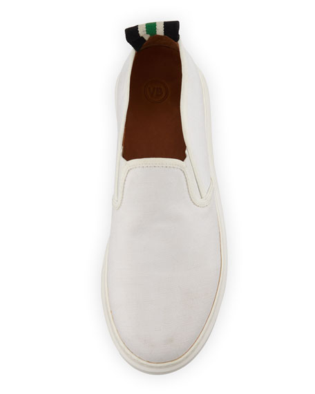 Veronica Beard Westley Canvas Slip-On Sneakers