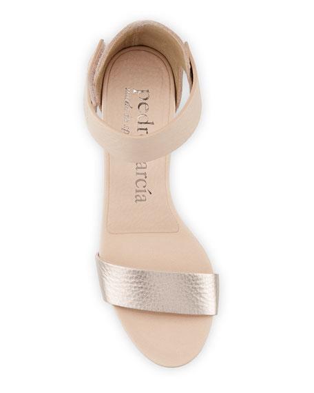 Pedro Garcia Winka Metallic-Leather Sandals