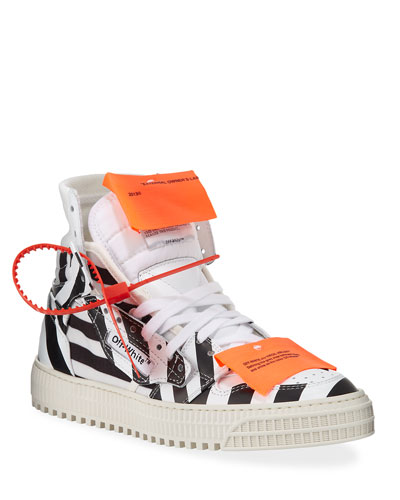 Off Court Leather High-Top Sneakers