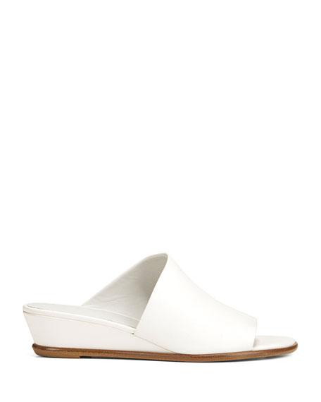 Vince Duvall Leather Wedge Sandals