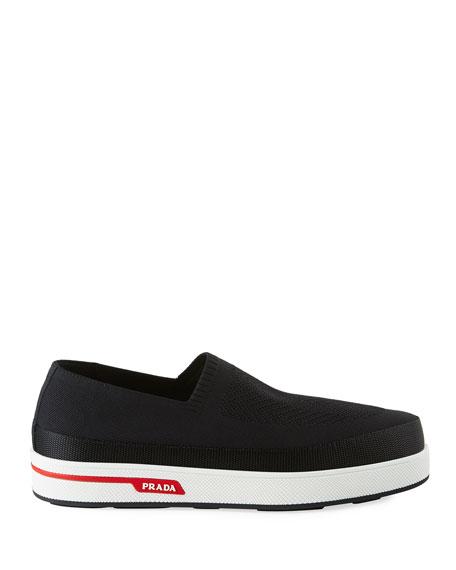 Prada Stretch Slip-On Sneakers