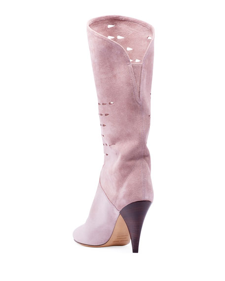 Isabel Marant Lurrey Cutout Suede Knee Boots