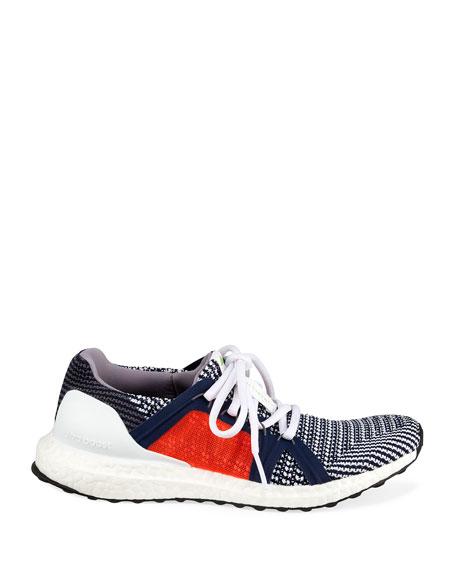 adidas by Stella McCartney UltraBoost Colorblock Knit Sneakers, Blue/Orange