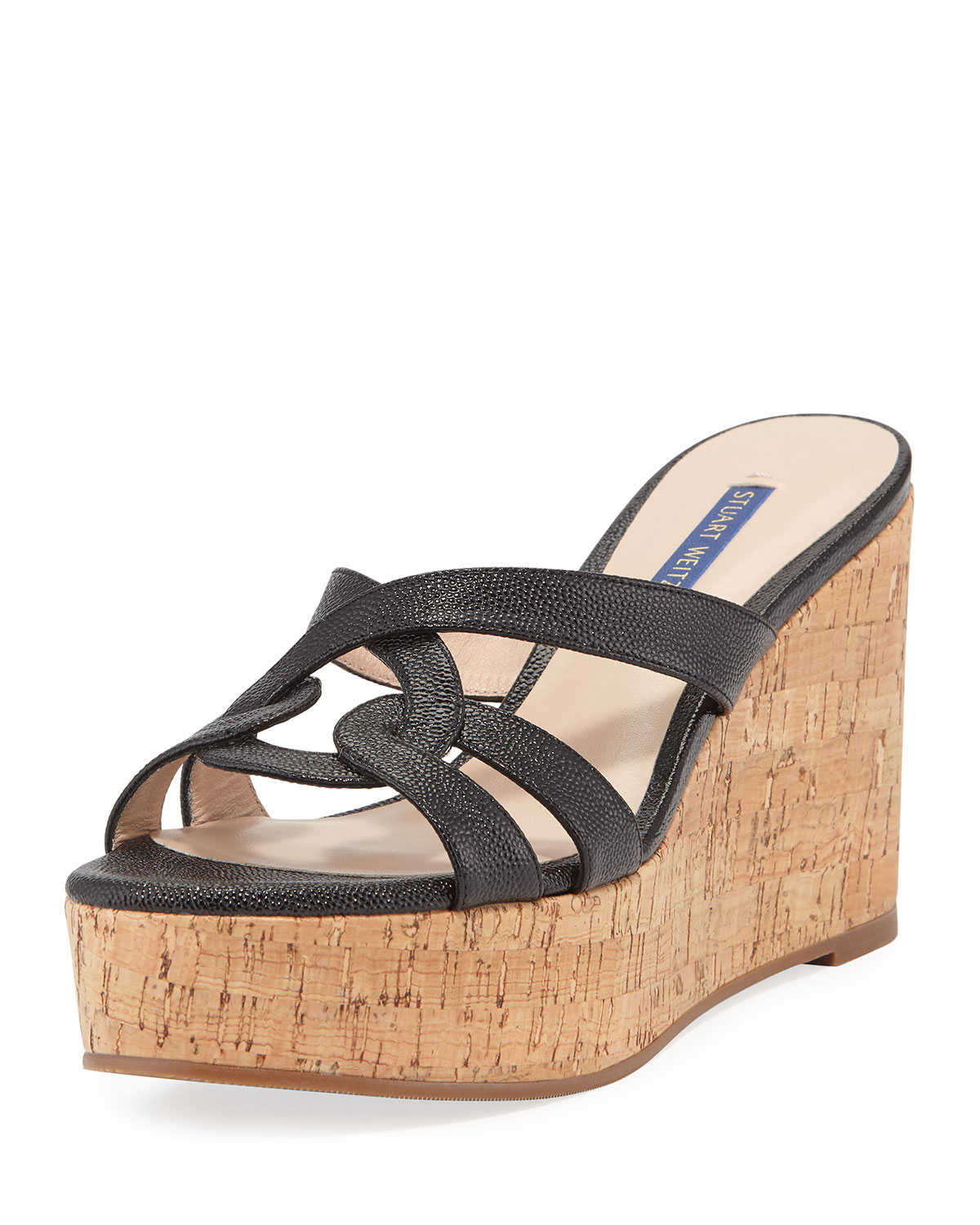 25d0cb1150bf Stuart Weitzman Cadence Patent Leather Wedge Sandals