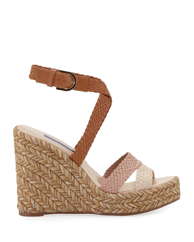 77559767413 Elsie Tricolor Espadrille Wedge Sandals