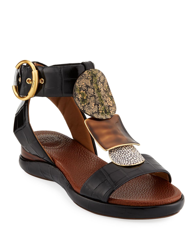 37571d30263a Chloe Wanda Flat Tall Gladiator Sandals