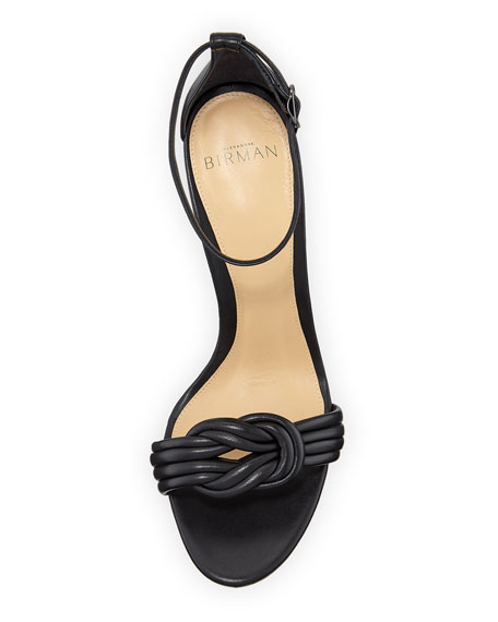 Alexandre Birman Chiara Knot Leather Sandals