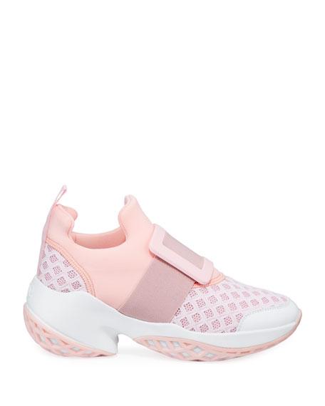 Roger Vivier Viv Run Knit Platform Sneakers