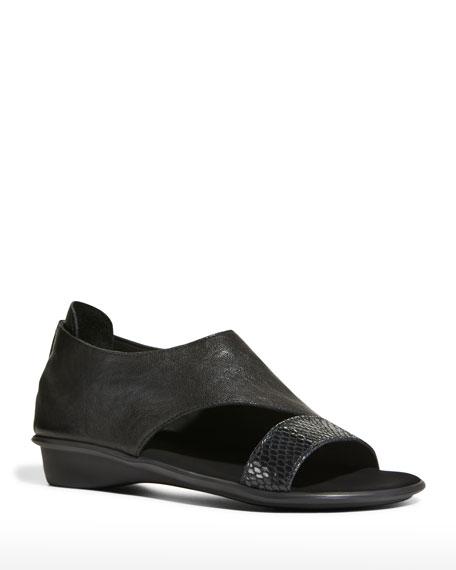 Sesto Meucci Elen Comfort Leather Sneaker Sandals, Black