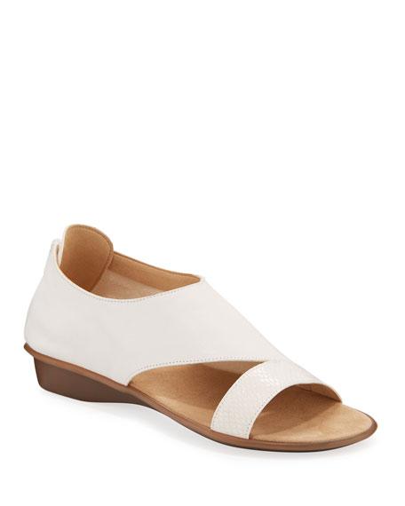 Sesto Meucci Elen Comfort Leather Sneaker Sandals, White
