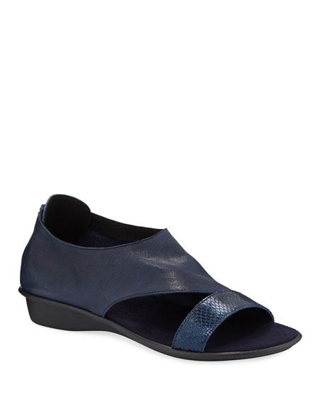 Sesto Meucci Elen Comfort Leather Sneaker Sandals, Navy